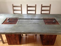 diy concrete dining table awesome concrete dining room table pictures mywhataburlyweek com