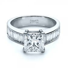 engagement rings with baguettes engagement rings with baguette diamonds 11742