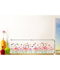 stickerskart pink and yellow vinyl flowers beautiful daisy border