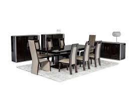 modern ebony lacquer dining table