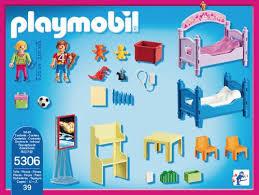 chambre d enfant playmobil playmobil dollhouse 5306 chambre d enfants avec lits superposés