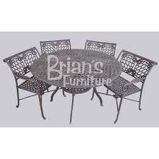 Round Patio Furniture Set by Cast Aluminum Patio Furniture Set Brian U0027s Furniture Baton