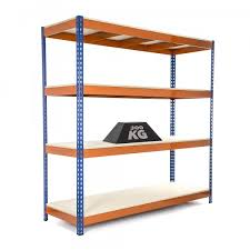 Heavy Duty Garage Shelving by Heavy Duty Garage Shelving Racking 4 Levels 1800mm H X 1800mm W X