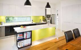 kitchen design with modern appliances and floating island