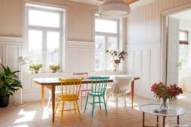 White And Wood Dining Chairs Interior Charming Dining Room With Rectangular Wood Dining Table