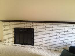 How To Update Brick Fireplace by How Can We Update This Painted Brick Fireplace