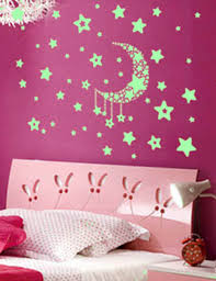 aliexpress com buy luminous fluorescent stickers moon and stars