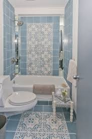 blue bathroom tiles ideas white blue tiles with chic pattern in vintage bathroom design