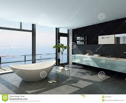 Contemporary Design Ultramodern Contemporary Design Bathroom Interior With Sea View