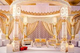 soma sengupta indian wedding decorations white gold mandap