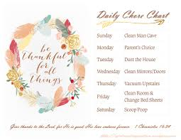 printable chore chart with thanksgiving theme inspiration