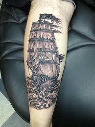 pirate ship grey ink on lower arm in 2017 photo