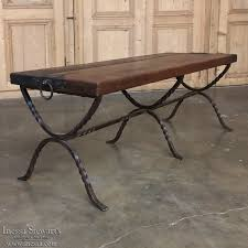 Wrought Iron Sofa Tables by Antique Plank U0026 Wrought Iron Coffee Table Inessa Stewart U0027s Antiques
