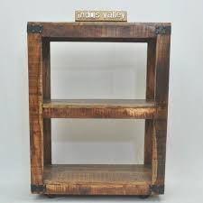 Timber Bookshelf Metal Factory Timber Bookshelf On Wheels