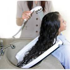 salon sink and chair hair washing tray for home or salon use with chair or wheel chair