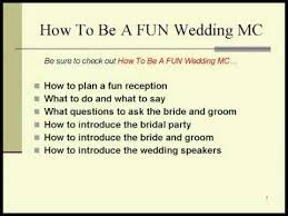 Examples Of Wedding Reception Programs Wedding Mc Tips Youtube