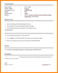 Job Resume For Freshers by 4 It Professional Resume For Freshers Ledger Paper