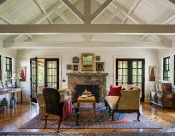 high ceiling decor living room farmhouse with traditional area rugs