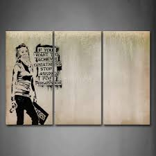 Prints For Home Decor 3 Piece Wall Art Painting Cool Looks Arrogant Print On Canvas