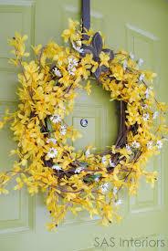 Whimsical Spring Forsythia Wreath Jenna Burger   whimsical spring forsythia wreath jenna burger