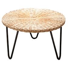 Wicker Side Table Wicker Coffee Table By Mathieu Mategot At 1stdibs