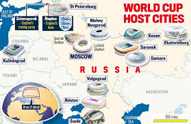 russia world cup cities map russia s world cup 2018 stadium best and worst venues daily