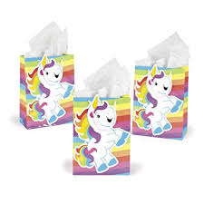 party favor bags rainbow unicorn gift party favor bags 1 dz clothing