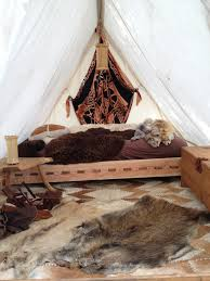 viking tent interior medieval and larp furiniture pinterest