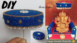 how to make easy umbrella for ganesh chaturthi diy ganesh