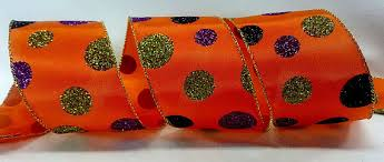 2 5 inchwired ribbon orange satin ribbon with purple lime