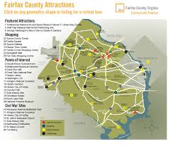 fairfax county map map of things to do in fairfax fairfax county va