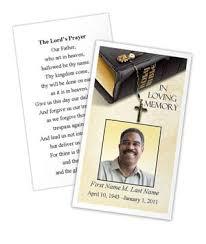 funeral prayer cards memorials funeral programs templates
