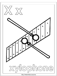 xylophone coloring page alphabet letter x preschool activities