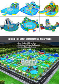 giant inflatable water park playground inflatable backyard