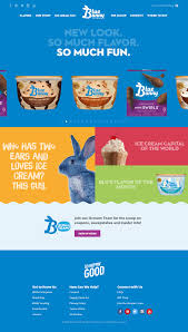 blue bunny ice cream redesigns their website and logo