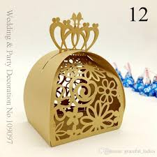 candy favor boxes wholesale beige gold wedding party favors candy boxes favor gifts for