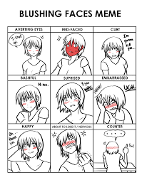 Blushing Meme - blushing faces meme hirumi by la mishi mish on deviantart
