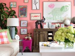 Rooms Viewer HGTV - Pink living room design