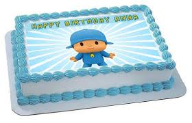 pocoyo cake toppers pocoyo 2 edible birthday cake or cupcake topper edible prints on