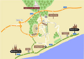 Girona Spain Map by How To Get To The Castle Castell De Santa Florentina