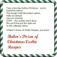 baker u0027s dozen of christmas cookie recipes