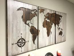 Decorative World Map Wall Ideas Decorative Wood Panels Wall Art Wood Wall Art Panels