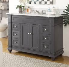 48 Single Sink Bathroom Vanity by 48 Inch Shaker Deep Grey Single Sink Bathroom Vanity Gray Color