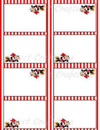 minnie mouse card table diy printable food cards table tents inspired by minnie digital