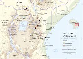 East Africa Map East African Languages Cartogis Services Maps Online Anu
