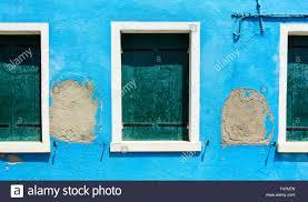 Door Window Blue Shutter Old Fame House Blue Green Brown