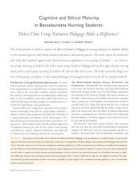 cognitive and ethical maturity in baccalaureate nursing students
