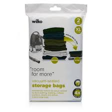 wilko vacuum sealed storage bags extra large 2pk at wilko com