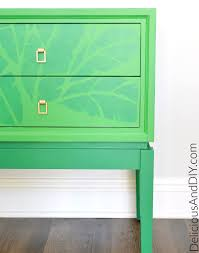 185 Best Diy Furniture Images by A Banana Leaf Stenciled Side Table Stencil Stories