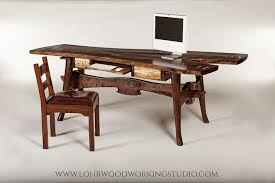 live edge desk with drawers great expectations walnut desk lohr woodworking studio